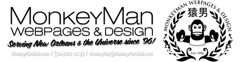 MonkeyMan Webpages & Design